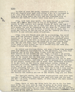 """The so-called """"suicide letter"""", mailed anonymously by the FBI"""