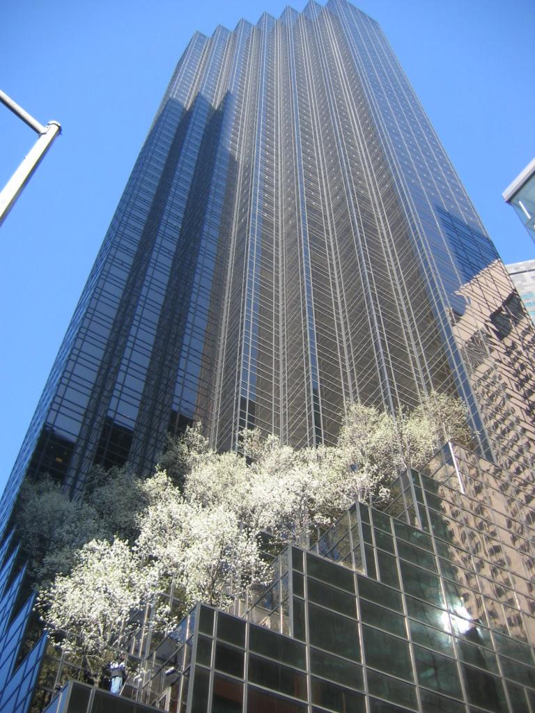 Trump Tower, on Fifth Avenue, in Midtown Manhattan