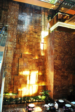 Trump Tower atrium                                 waterfall