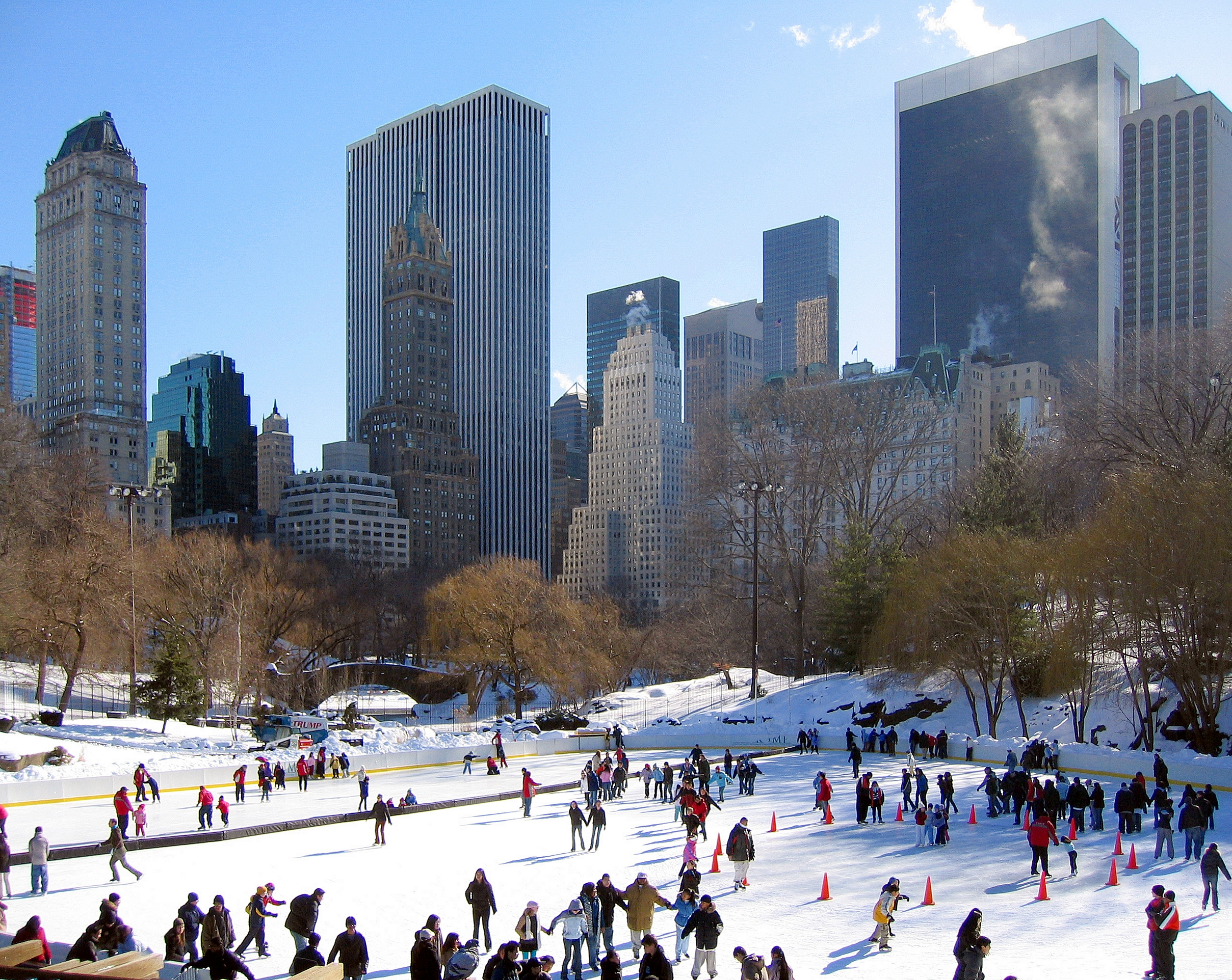 """Wollman Rink in Central Park, about which Trump said, """"it was something we really put a lot of oomph into. [...] and we're proud of it.""""[53]"""