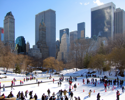 "Wollman Rink                                in                                 Central Park                                , about which Trump said, ""it was something we really put a lot of oomph into. [...] and we're proud of it.""                                                   [53]"