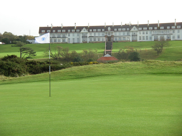 A view of the Turnberry Hotel, located in Ayrshire, Scotland
