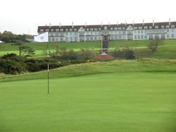 A view of the                                 Turnberry Hotel                                , located in                                 Ayrshire                                ,                                 Scotland