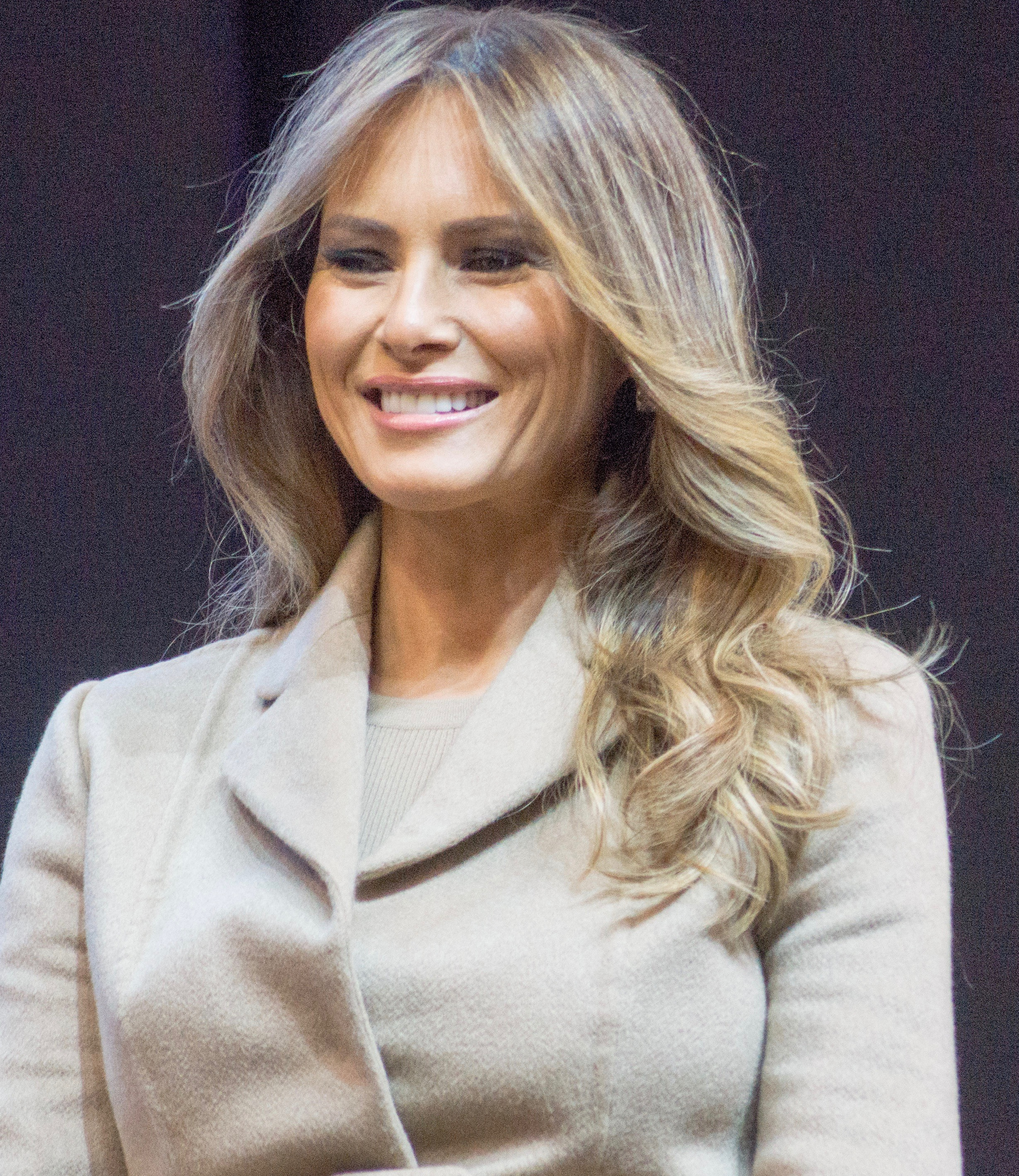 Trump's wife Melania at a campaign event in 2016