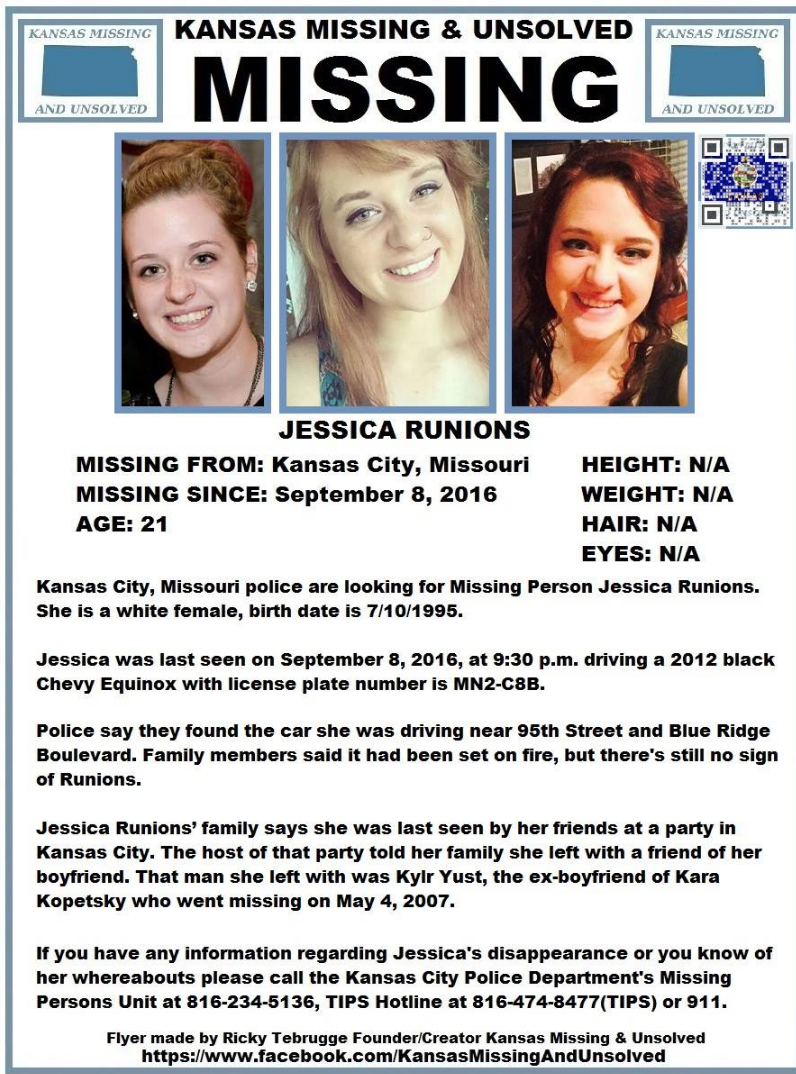 Image result for jessica runions missing poster