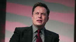 Elon Musk 's face when.