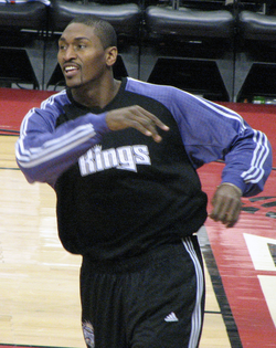 Artest during his tenure with the Sacramento Kings.