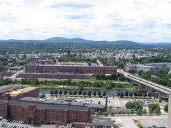 Mills on the Merrimack River and the West Side of Manchester