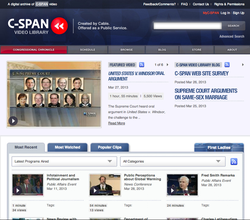 Home page of the C-SPAN Video Library