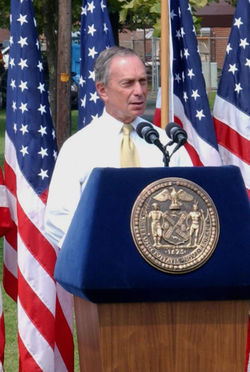 Bloomberg delivering a speech