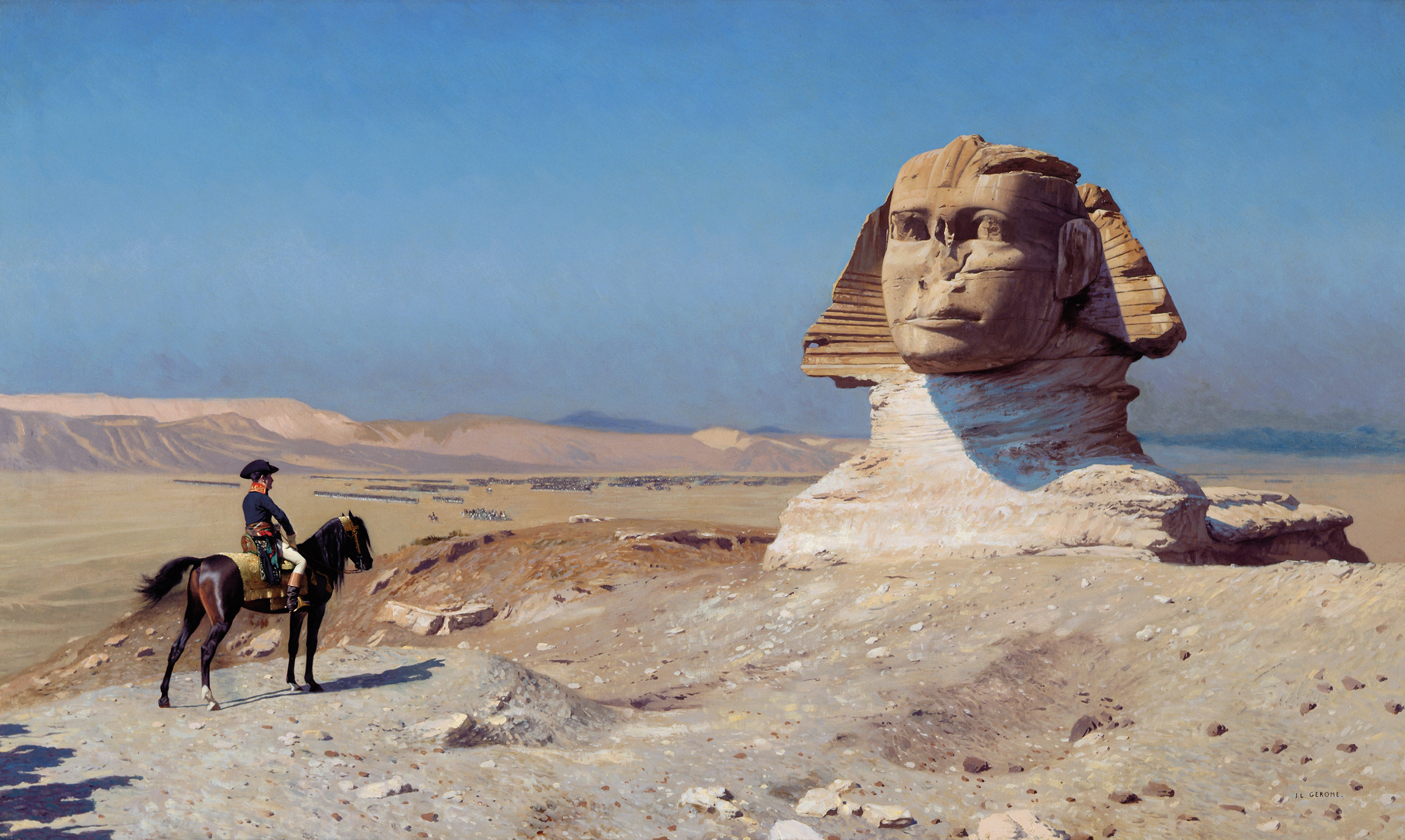 Napoleon Bonaparte Before the Sphinx, (ca. 1868) by Jean-Léon Gérôme, Hearst Castle