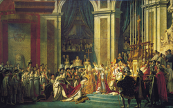 The Coronation of Napoleon by Jacques-Louis David in 1804.