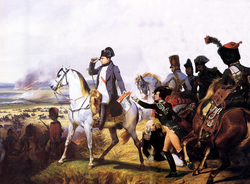 Napoleon at the Battle of Wagram, painted by Horace Vernet.