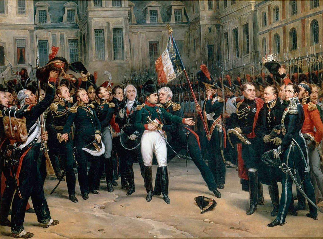 Napoleon's farewell to his Imperial Guard, 20 April 1814