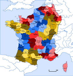 Reorganisation of the religious geography: France is divided into 59 dioceses and 10 ecclesiastical provinces.