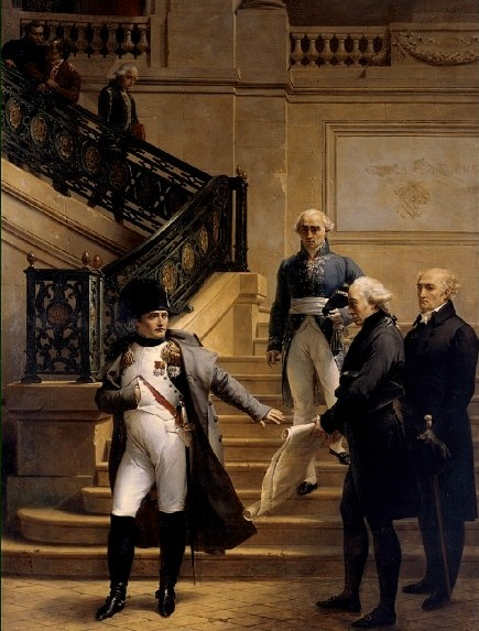Napoleon visiting the Palais Royal for the opening of the 8th session of the Tribunat in 1807, by Merry-Joseph Blondel