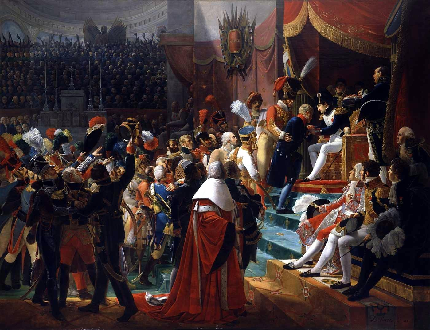 First remittance of the Légion d'Honneur, 15 July 1804, at Saint-Louis des Invalides, by Jean-Baptiste Debret (1812).