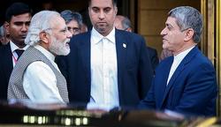 Modi with Iranian Finance Minister, Ali Tayebnia in Tehran, 22 May 2016