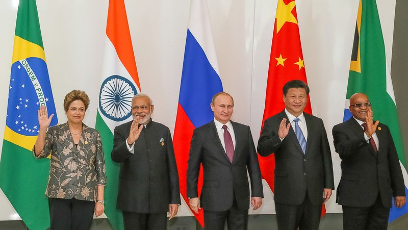 Modi with fellow BRICS leaders at the 2015 G20 Antalya summit in Turkey