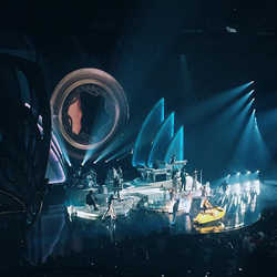 "Carey performing ""Honey"" during her Number Ones Las Vegas residency"