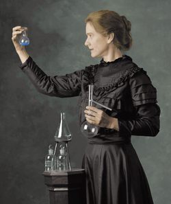 A portrait of Marie Curie