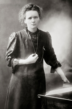 A photo of Marie Curie