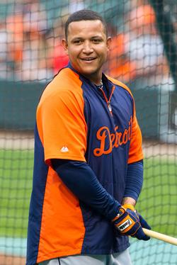 Cabrera during batting practice in 2012