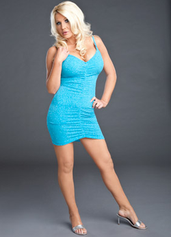 """""""Jillian Hall in a blue dress"""""""