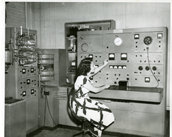 A                                 mass spectrometer                                in use at the NBS in 1948.