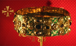 The Iron Crown of Lombardy, for centuries symbol of the Kings of Italy.