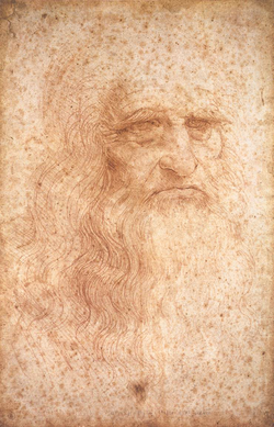 Leonardo da Vinci, the quintessential Renaissance man (self portrait, c. 1512).