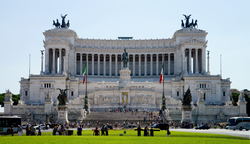 The Altare della Patria in Rome, resting place of the Unknown Soldier. More than 650,000 Italian soldiers died on the battlefields of World War I.