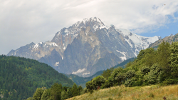 Monte Bianco/Mont Blanc, on the Franco-Italian border is the highest point in the European Union.