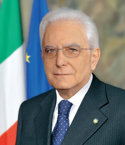 Sergio Mattarella, President of the Republic since 2015.