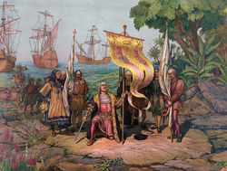 Christopher Columbus discovered America in 1492, opening a new era in the history of humankind.