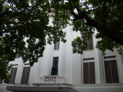 A close up view of the entrance to Kasturi Buildings, the head office of The Hindu