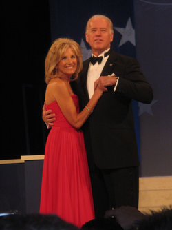 Joe Biden met his second wife, Jill (here seen dancing together in 2009), in 1975 and they married in 1977.