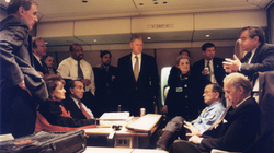 Senator Biden travels with President Clinton and other officials to Bosnia in 1997