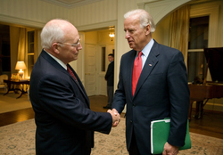 Vice President-elect Biden with Vice President Dick Cheney at Number One Observatory Circle, November 13, 2008