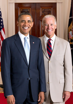 Biden with President Barack Obama, July 2012