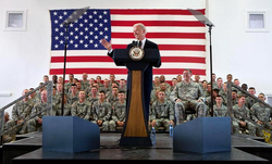 Vice President Biden visiting Camp Bondsteel in Kosovo, May 2009