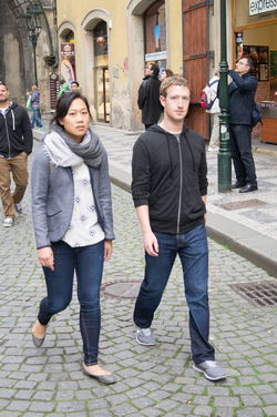 Chan and Zuckerberg in Prague (2013)
