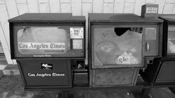 Abandoned Los Angeles Times vending machine, Covina, CA (2011)