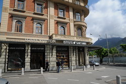 Louis Vuitton store in Lugano, Switzerland.