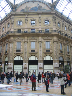 A Louis Vuitton boutique in the Galleria Vittorio Emanuele II, in Milan, Italy.