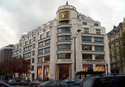 Louis Vuitton situated on the famous Champs-Elysées.