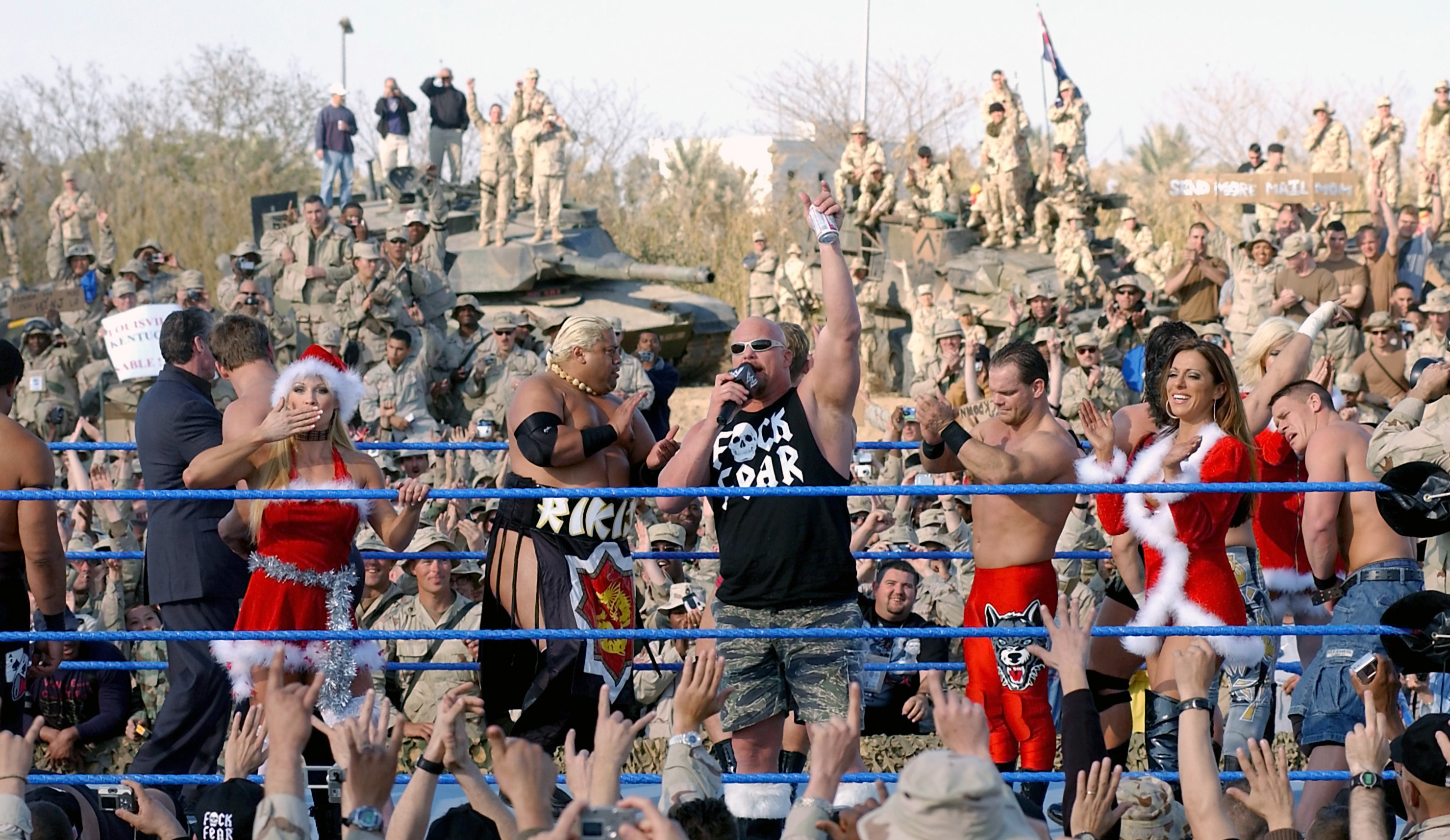 WWE has aired an annual Tribute to the Troops for U.S. soldiers in Iraq since 2003