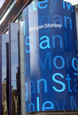 Morgan Stanley's office on Times Square