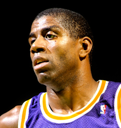 Johnson with the Lakers,                                 c.                                1987