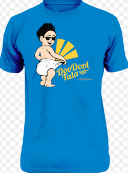 "The tshirt Max made to popularize ""doodool tala"" (golden dick)."